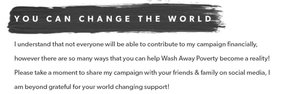 wash away poverty change the world
