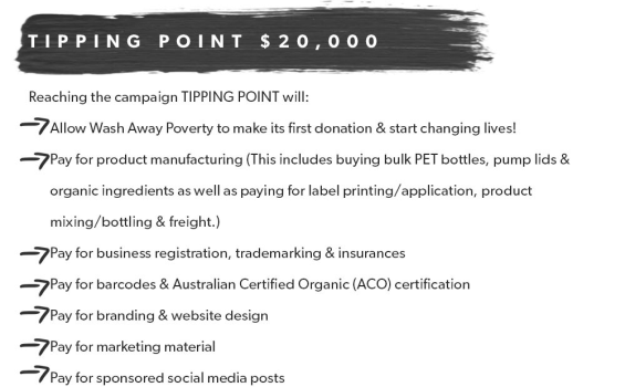 wash away poverty tipping point