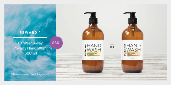 Wash Away Poverty Reward 1