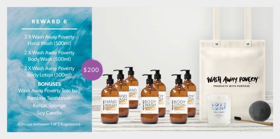 wash away poverty reward 6